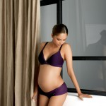 NURSING BRA: Purple Padded Breastfeeding Bra